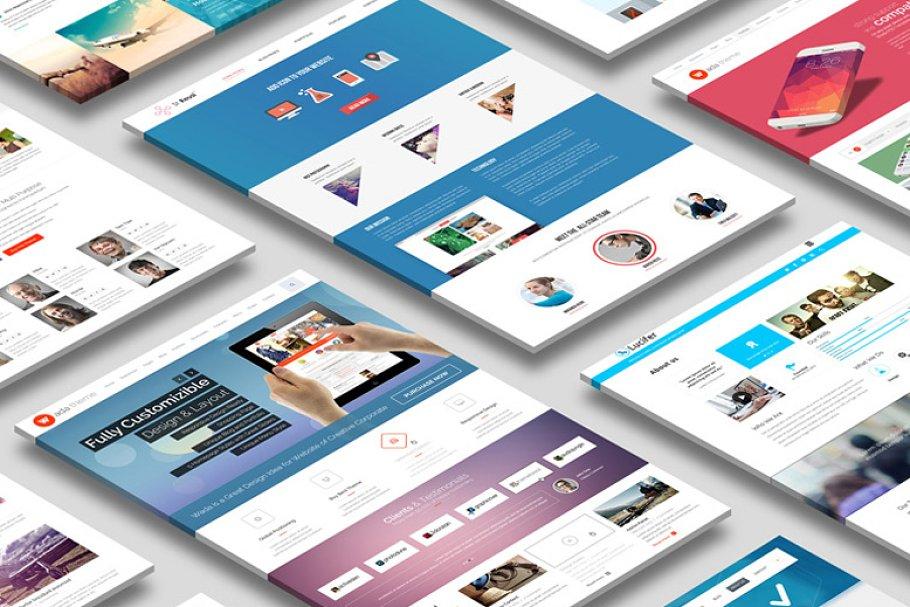 Perspective Website Mock Up Creative Mobile Web Mockups