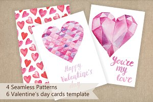 Valentine's day cards template