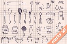 Bakery and cooking utensils set
