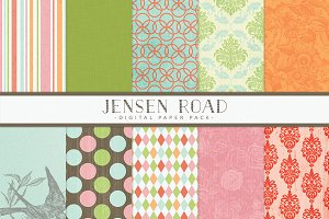 Spring Digital Scrapbook Papers