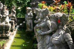 Balinese Stone Statues,Bali Island