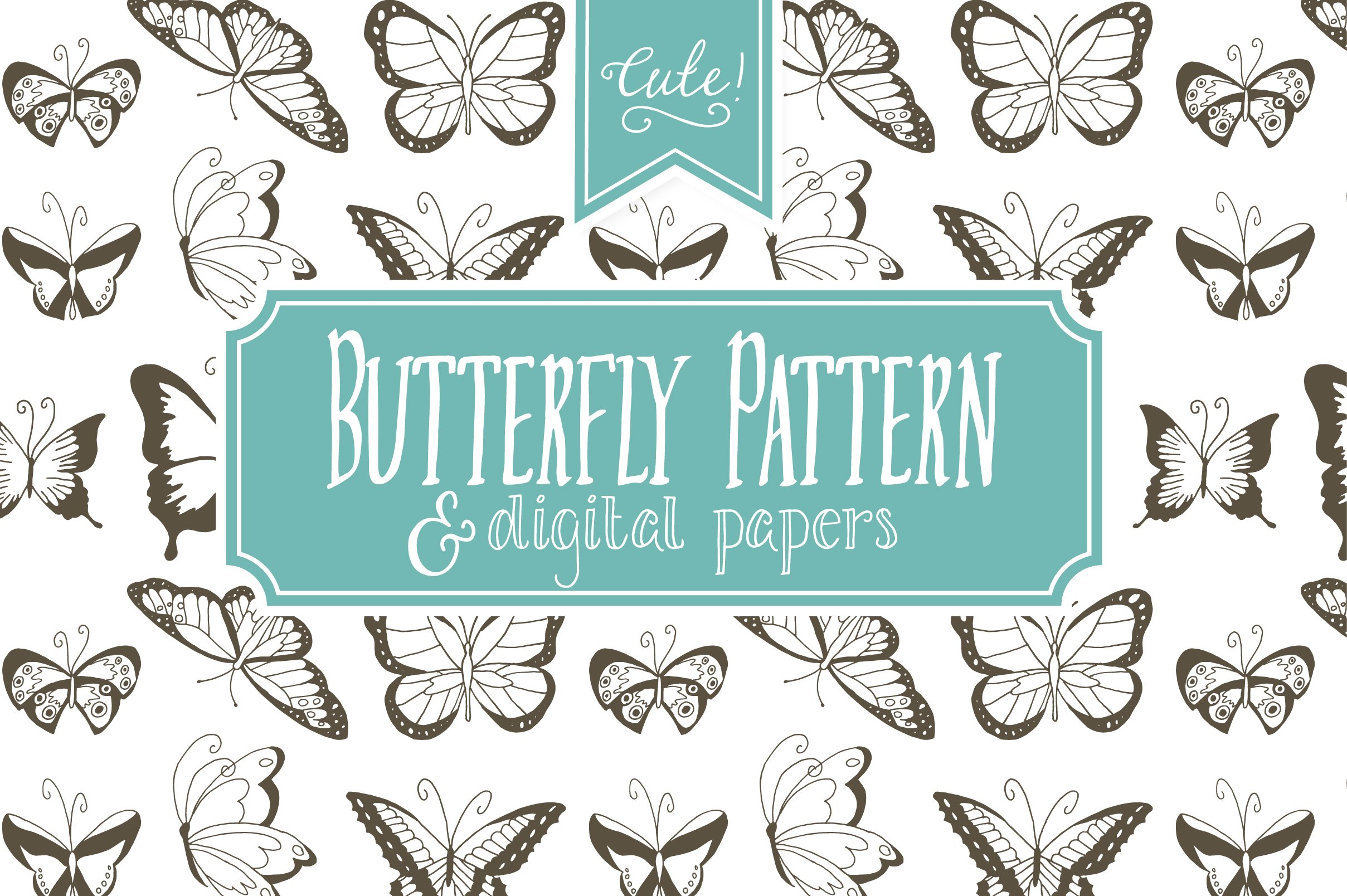 seamless butterfly pattern - vector ~ graphic patterns ~ creative market