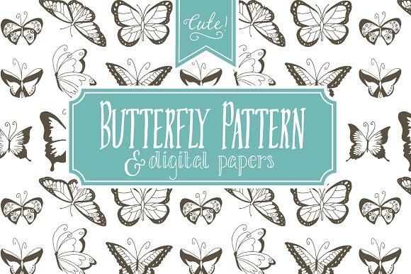 Seamless Butterfly Pattern - Vector