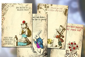 Alice in Wonderland Printable Paper