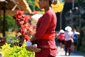 Woman in Bali,Indonesia (vertical)