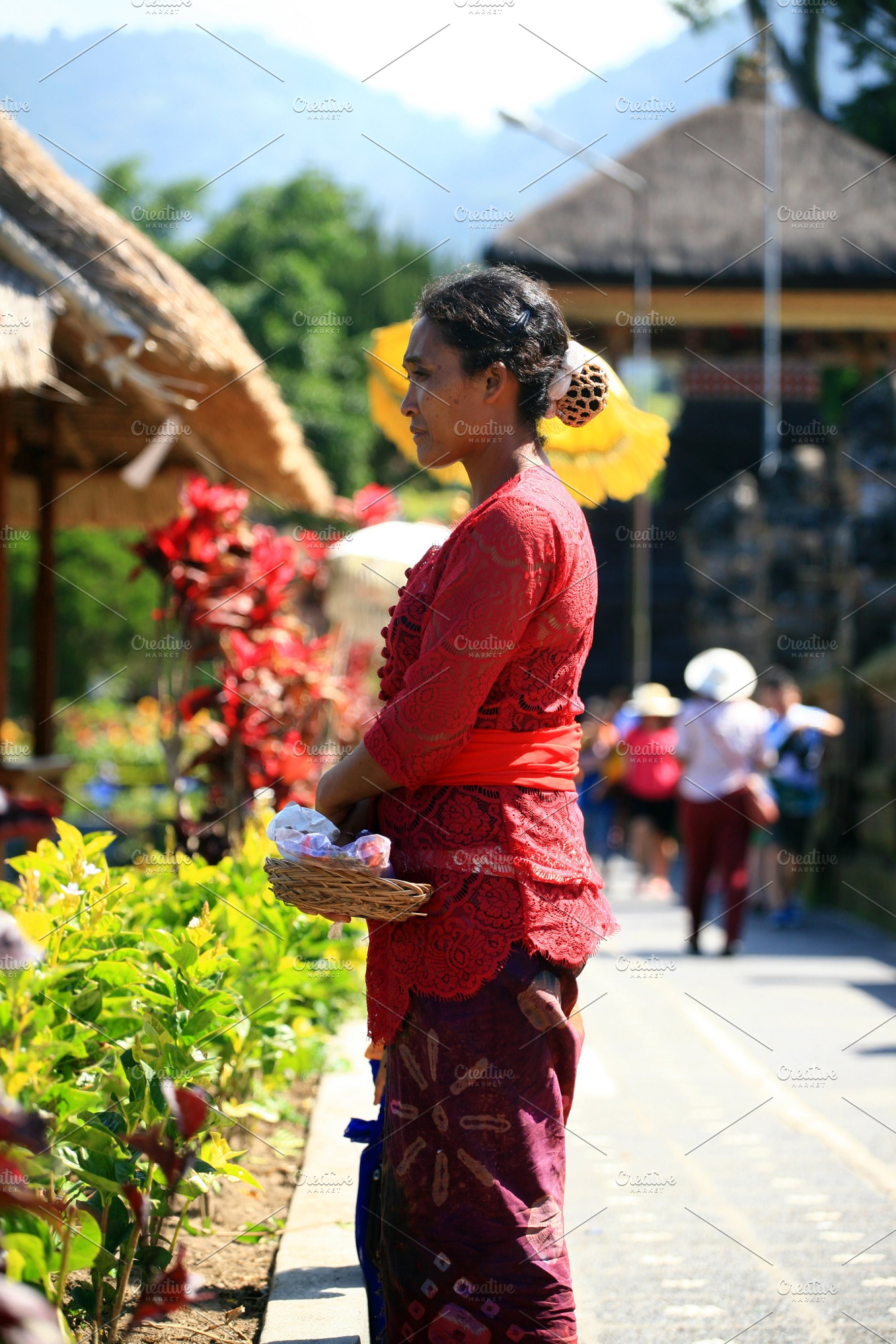 Woman In Bali Indonesia Vertical