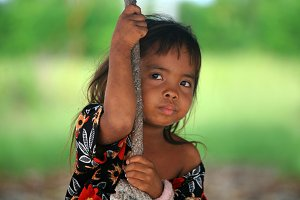Little girl from Malaysia