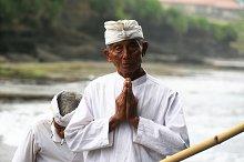 Praying Man in Bali,Indonesia