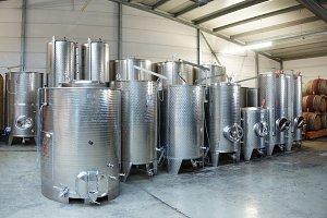 Fermentation stainless steel vats