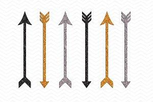 Shimmering Cupids Arrows Clip Art