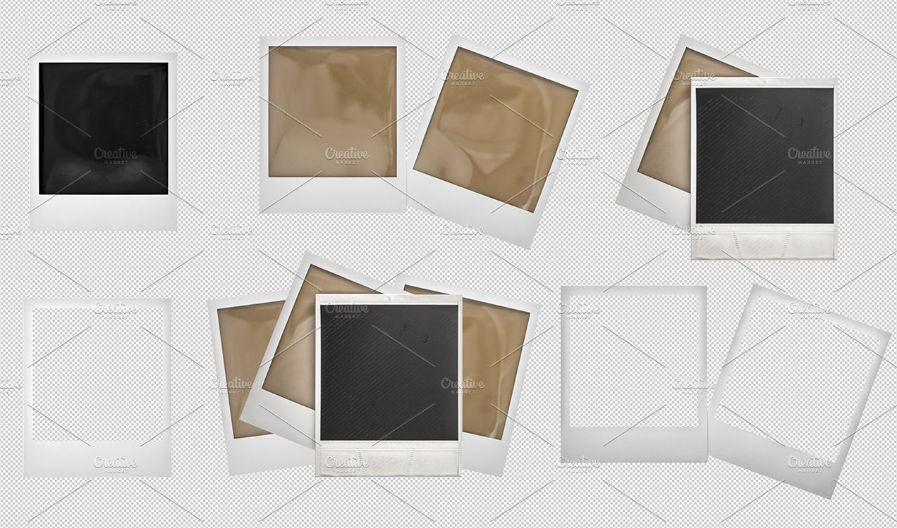 PSD Polaroid picture photo frames ~ Graphic Objects ~ Creative Market