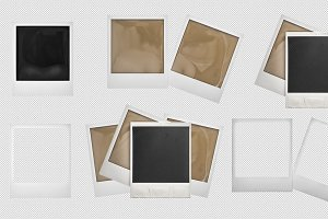 PSD Polaroid picture photo frames