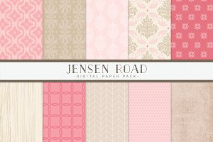 Pink and Tan Digital Papers