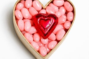 Candy with hearts