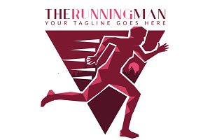 The Running Man (Logo Template)