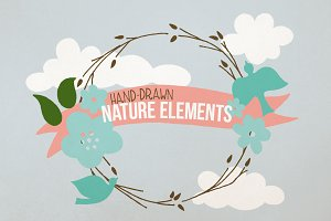 Hand-Drawn Nature Elements (over 90)