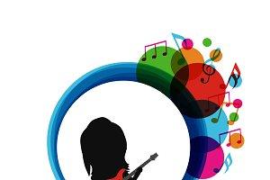 silhouette guitarist