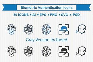 Biometrics Authentication Icons