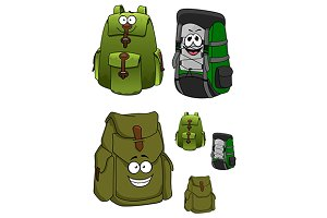 Travel green backpacks