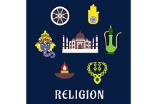 Indian religion and culture icons