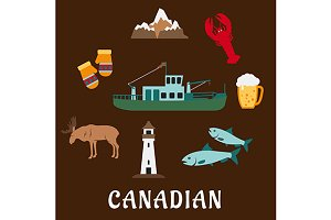 Canada symbols and icons