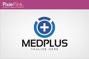 Med Plus Logo Template