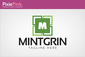 Mint Grin Logo Template