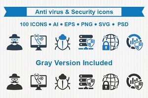 Anti virus & Security icons