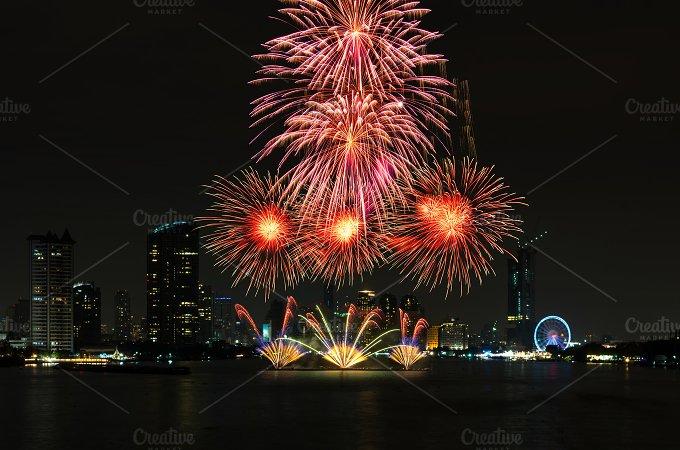 Amazing celebration fireworks - Holidays