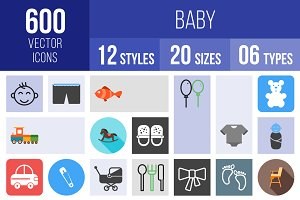 600 Baby Icons