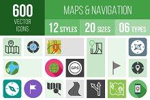 600 Maps & Navigation Icons