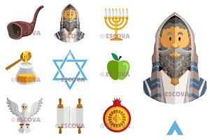 Rosh Hoshanah Yom Kippur Jews Icon