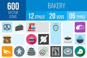 600 Bakery Icons