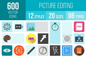 600 Picture Editing Icons