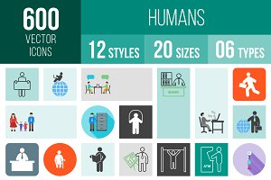 600 Humans Icons