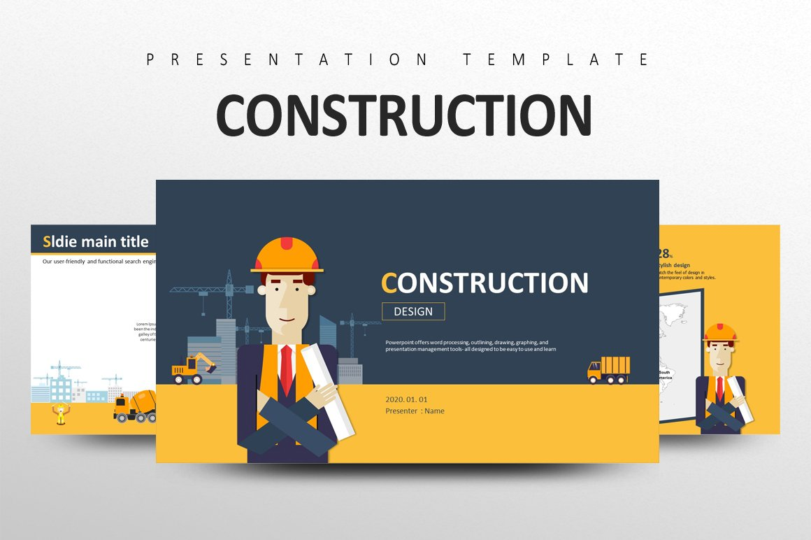Construction presentation templates creative market toneelgroepblik Choice Image