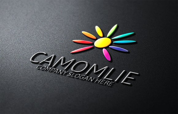 Camomile Flower Logo