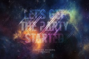 Great party52 typeface