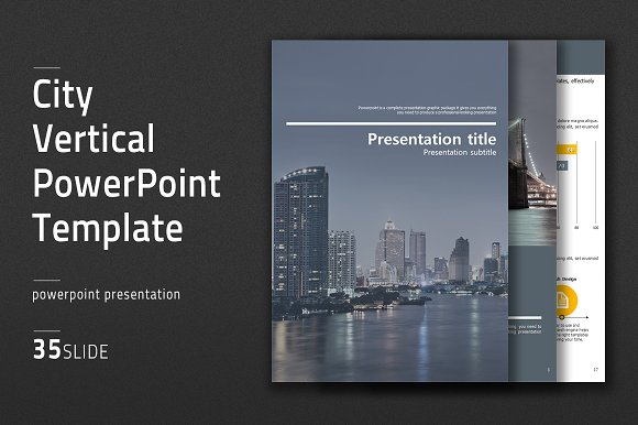 City vertical powerpoint template presentation templates city vertical powerpoint template presentation templates creative market toneelgroepblik Images