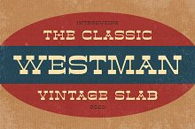 Westman - The Classic Vintage Slab by  in Fonts
