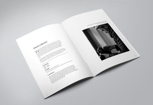 Photography Portfolio Template Brochure Templates Creative Market - Photography portfolio template