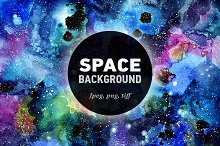 Space Watercolor Background