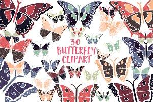 Butterfly Clipart -Butterflies