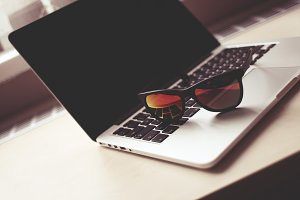 MacBook with Fashion Glasses #1