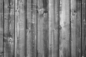 Black and white wooden background