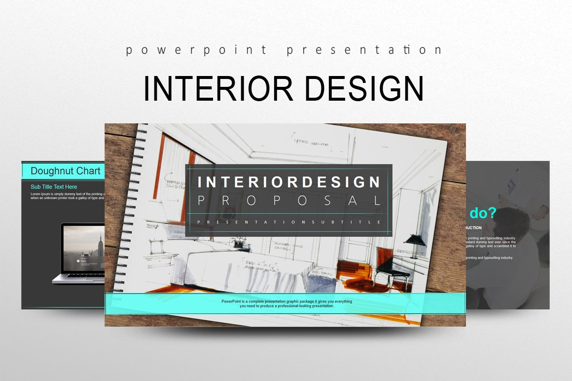 Interior design presentation templates creative market for Interior design layout templates free