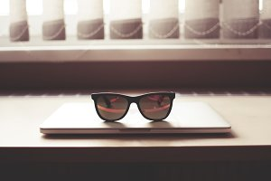 MacBook with Fashion Glasses #2