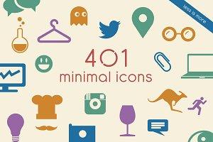 401 minimalistic vector icons