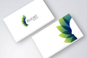Beauty Resort Spa Green Blue Logo