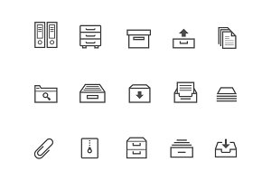 15 Archive and Filing Icons